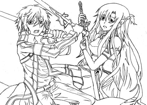 sao sword coloring pages