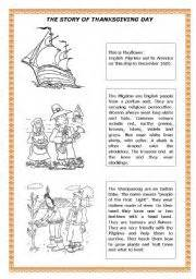 story for thanksgiving english exercises thanksgiving story