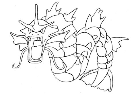 pokemon coloring pages gyarados gyarados by maybeadeatheater on deviantart