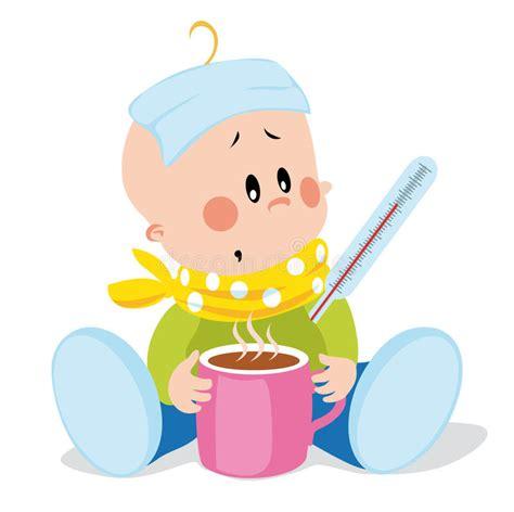 clipart bambino bambino malato illustrazione vettoriale illustrazione di