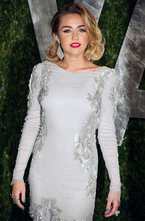 Miley Cyrus Vanity Fair Photos miley cyrus picture 357 2012 vanity fair oscar arrivals