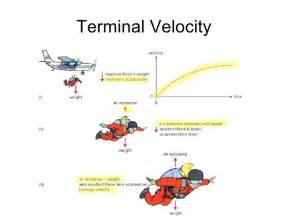 weight and terminal velocity