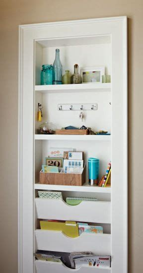 In Wall Shelves Shallow Built In Recessed Between Wall Studs For Shelves