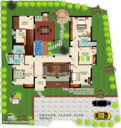 Villa House Plans Eco Friendly Single Floor Kerala Villa Kerala Home