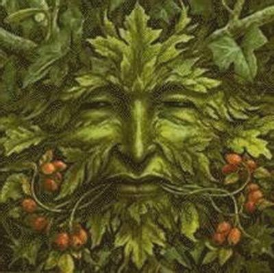 the horned god oak king holly king and green man