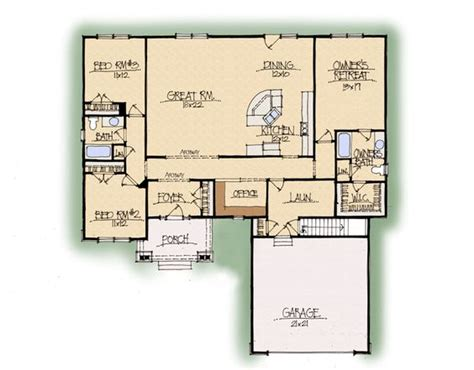 open kitchen great room floor plans perfect open floor plan large great room and kitchen with split bedrooms office and laundry