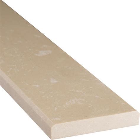 ms international beige double bevelled 4 in x 36 in engineered marble threshold floor and wall