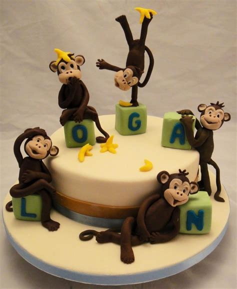 Monkey Themed Baby Shower by Adorable Monkey Cakes For Supercool Animal Themed Cakes