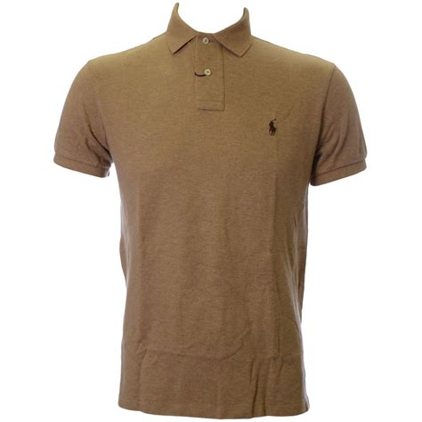 Polo Ralph Laurent polo ralph custom fit polo shirt in beige
