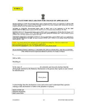 statutory declaration template name change statutory declaration form nsw forms and templates