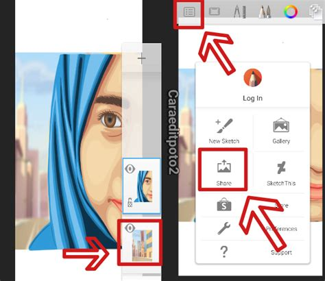 tutorial smudge di sketchbook android tutorial edit foto vector vexel di aplikasi sketchbook android