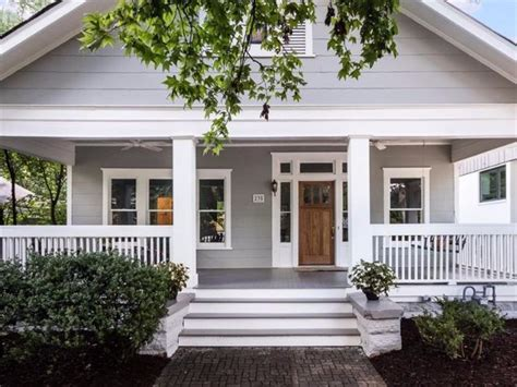 beach house bungalow garden and bungalow front porch ideas curb appeal makeover with lowe s before pictures and