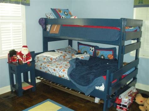 bunk bed night stand hand crafted twin over full bunk bed with nightstand by