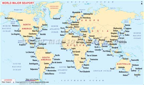 world map with lakes and seas image gallery seaport map