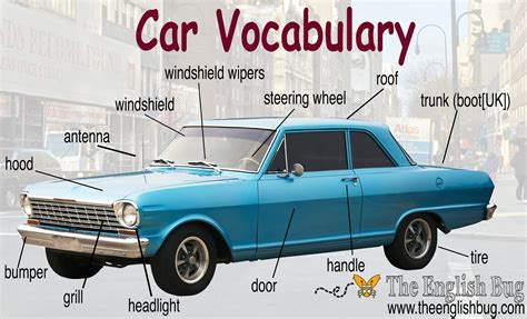 Englisch Auto by Car Vocabulary The Bug