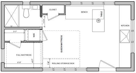 production floor plan 1000 images about my tiny house on hauler school conversion and vancouver