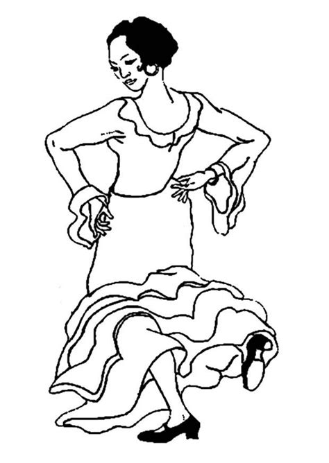 coloring page flamenco dancer img 9353
