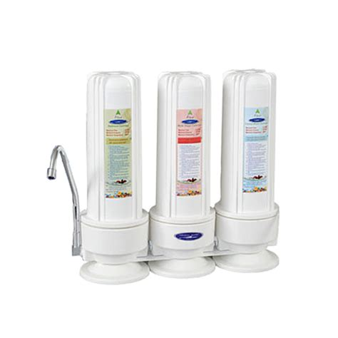 countertop fluoride removal water filter with 3 filters