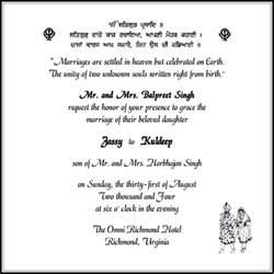 sikh wedding invitation invitation ideas