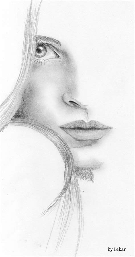 simple pencil drawing girl face 25 best ideas about face