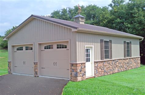 Build A 2 Car Garage by Pole Building Garages Garage Builders In Pa