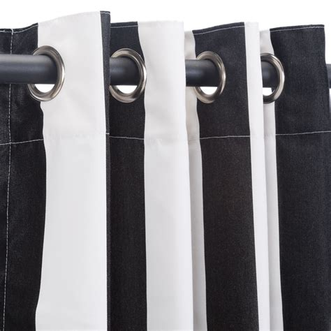 sunbrella curtains with grommets cabana black grommet sunbrella outdoor curtains
