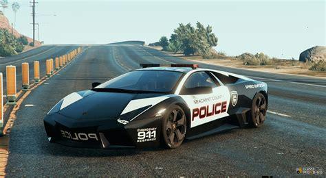 Lamborghini Police by Lamborghini Reventon Police For Gta 5