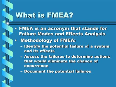 fmea potential failure mode and effects analysis ppt ppt fmea powerpoint presentation id 193914