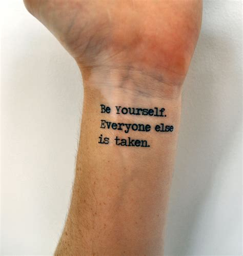 hipster tattoo quotes tumblr individuality quote temporary tattoo oscar wilde be yourself