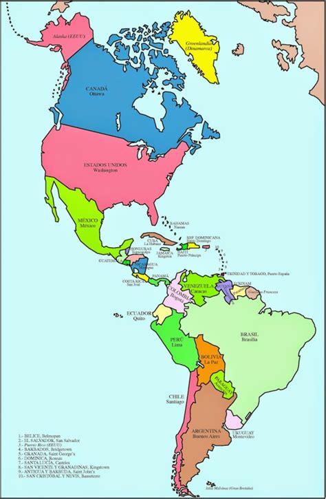 mapa politico de america con todos los paises mapa de america con nombres mapa f 237 sico geogr 225 fico
