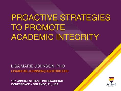 online tutorial on academic integrity proactive strategies for promoting academic integrity