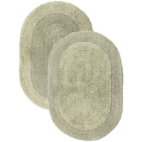 Espalma The Deluxe Oval Bathroom Rug Reversible 17x24 Oval Bathroom Rug