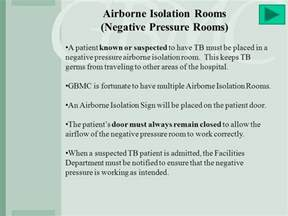 Negative Pressure Room Airborne Precautions by Understanding And Preventing Tuberculosis Health Healing