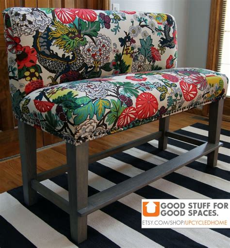upholstered counter bench custom upholstered counter height bench furniture makeovers pinte