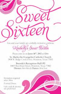 sweet sixteen invitation card invitation templates