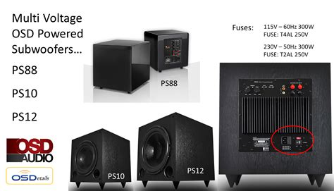 ps home theater subwoofer dual woofer compact design