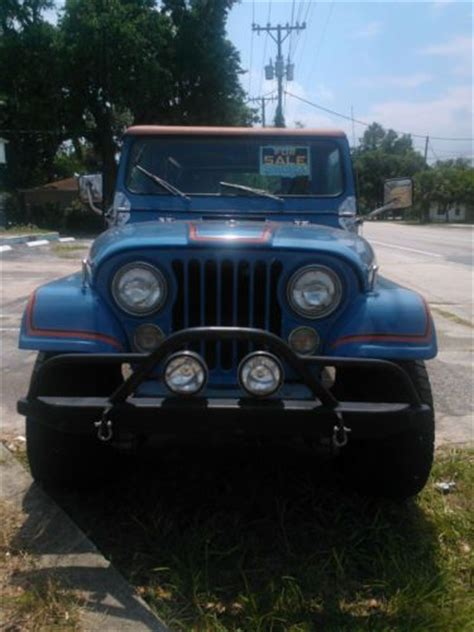 jeep scrambler blue buy used jeep scrambler cj8 sky blue w rally top family