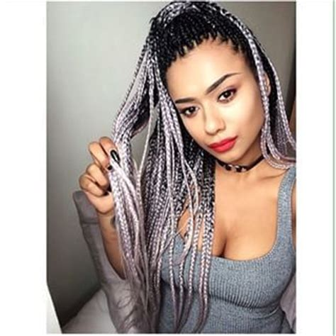 braiding method for ombre grey ombre braids google search hair pinterest