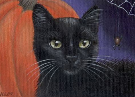 black cat painting designs black cat painting acrylic painting on 7x5