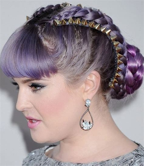 how to get osbournes haircolor kelly osbourne hairstyles super chic braided updo with