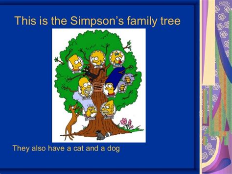 simpsons tree the simpsons family tree