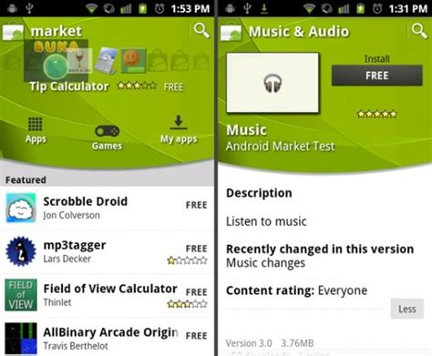 market android next version of the android market gets previewed along with new app