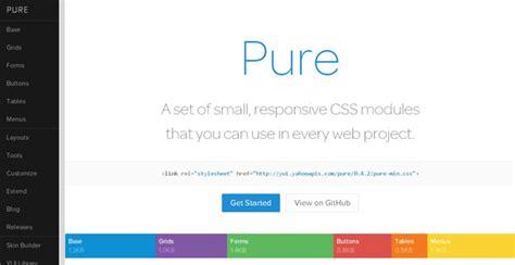 Yahoo Pure Layout | 15 free ui kits for web designers code geekz