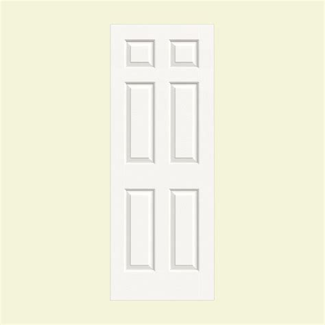 home depot interior slab doors jeld wen 36 in x 80 in colonist white painted textured molded composite mdf interior door slab
