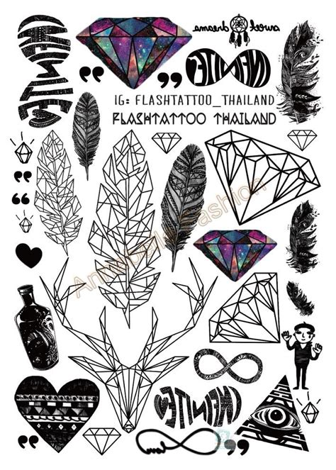 printable tattoo stickers aliexpress com buy a6080 201 big black tatuagem taty