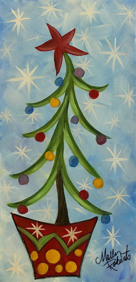 easy canvas painting ideas  christmas noted list