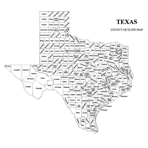 texas map county texas county map jigsaw genealogy