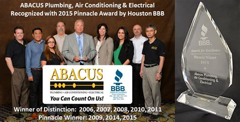 Abacus Plumbing by Abacus Recognized With Their Third Award By