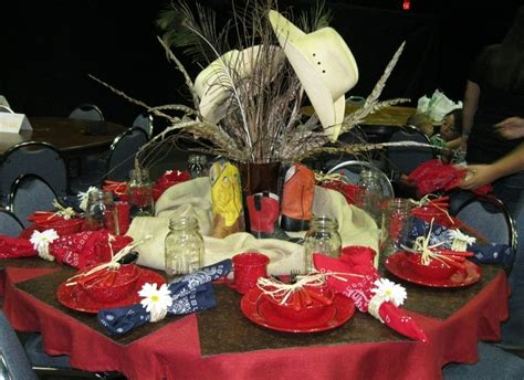 western decorations western table centerpieces images western table