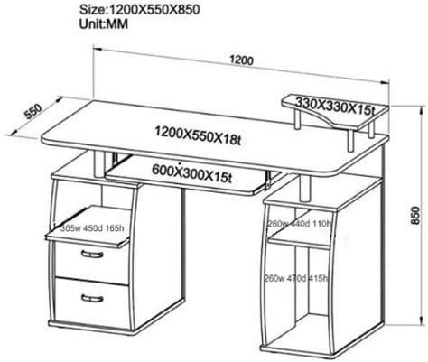 Study Desk Dimensions by Btm Pc Table Computer Desk With Drawers For Home Office